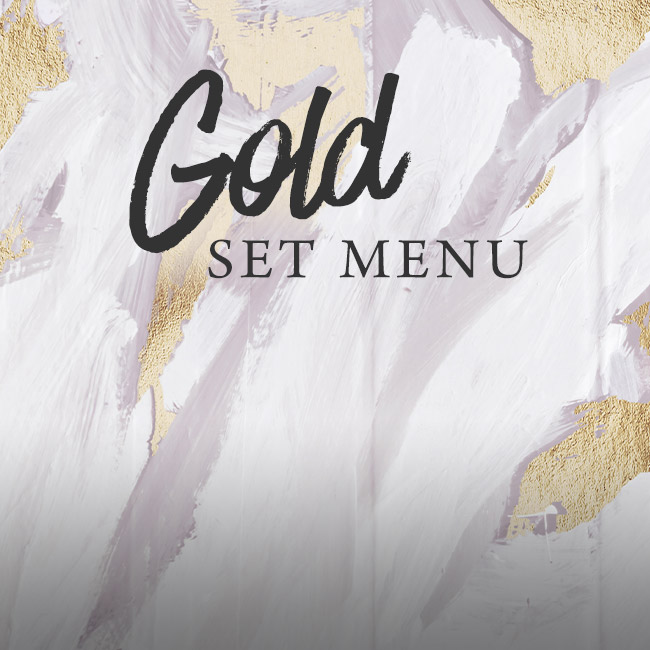 Gold set menu at The Deer Park