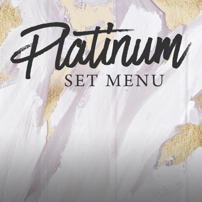 Platinum set menu at The Deer Park