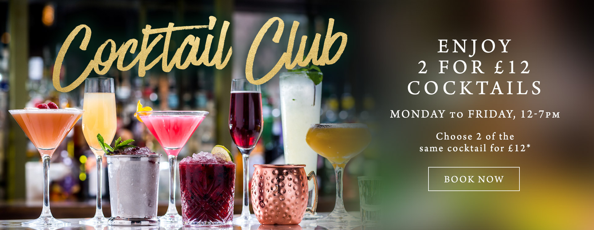 2 for £12 cocktails at The Deer Park